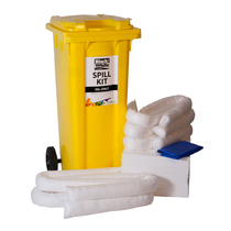 Lubetech Oil Only Spill Kit 2 Wheeled Bin 120 Litre