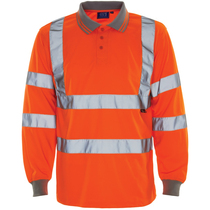 Hi Vis Bird Eye Polo Sleeved GO/RT