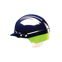Centurion Reflex Full Peak Helmet Blue C/W Yellow Flash