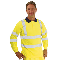 KeepSAFE High Visibility Long Sleeve Polo Shirt