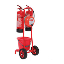 Fire Extinguisher Trolley Double With Rotary Fire Bell