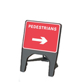 Melba Q Sign Pedestrian Reversible Arrow