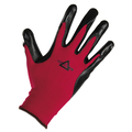 KeepSAFE Red Nitrile Palm Cut Level 1 Gloves