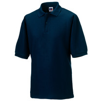 539M Russell Mens Polycotton Polo Shirt 215Gm French Navy