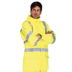 Blaze Tek High Visibility Flame Retardant Anti-Static Rain Jacket