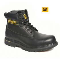 Caterpillar Holton Black Leather Safety Boots