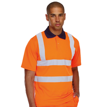 KeepSAFE High Visibility Rail Short Sleeve Safety Polo Shirt