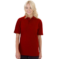 UCC004 Polycotton Unisex Heavyweight Polo Shirt 240g Red