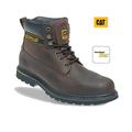 Caterpillar Holton Brown Leather Safety Boots