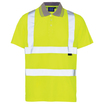 Hi Vis Bird Eye Short Sleeve Polo Shirt Yellow