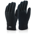 Thinsulate Black Woolly Gloves