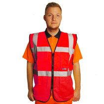 Hi Vis Executive Red Vest