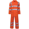 Hi Vis Polyester/Pvc 2 Piece Rain Suit Orange