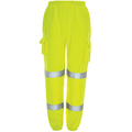 Hi Vis Yellow Jogging Bottoms