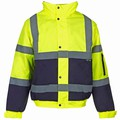 Hi Vis Two Tone Bomber Jacket (Yellow/Navy)