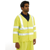 Blazetek Hi Vis Sleeved Flame Retardant Anti Static Yellow Vest