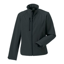 140M Russell Mens Softshell Jacket 340Gm Titanium Grey