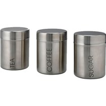 Stainless Steel Tea, Coffee, Sugar Canister Set