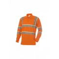 VIZ360 Hi Vis Orange Sleeved Polo Shirt
