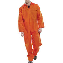 Flame Retardent Presstud Boilersuit Orange