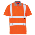 Hi Vis Orange Bird Eye Polo