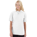 UCC004 Polycotton Unisex Heavyweight Polo Shirt 240g White