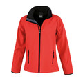 R231F Result Ladies Printable Softshell 280g Red/Black