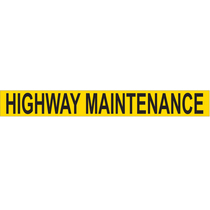 Highway Maintenance Sign