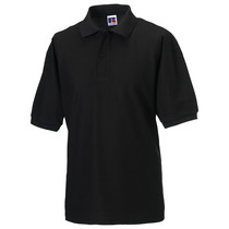 539M Russell Mens Polycotton Polo Shirt 215g Black