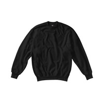 Ladies Black Polycotton Sweatshirt 280g