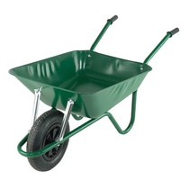 Wheelbarrow Builder Solid Tyre (Green) 90Ltr