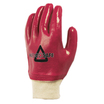 Fully Coated Pvc Knit Wrist Gloves Red