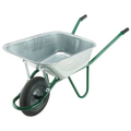 Wheelbarrow Invincible Solid Tyre (Chrome) 120Ltr