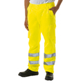 Hi Vis Polycotton Trousers Tall Leg Yellow
