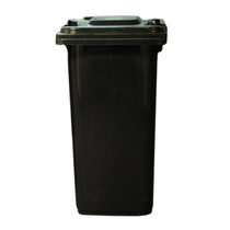 240Ltr Grey/Black Wheelie Bin